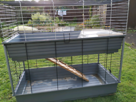 Indoor two storey guinea pig / rabbit cage ferplast pets at home