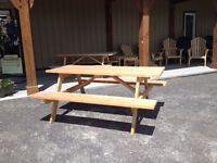 Spruce & Pressure Treated Picnic Tables