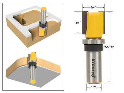 3 4  Diameter Flush Trim Template Router Bit   1 2  Shank   Yonico 14131