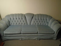 Living room blue Couch