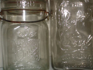 SEALERS CANNING JARS, RARE COLLECTION BLUE/CLEAR PIECES London Ontario image 4