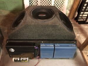"""3 - 12"""" Subwoofers W/3 Amplifiers (lows,mids,highs)"""