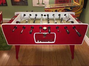 1970's Super Soccer Arcade Foosball Table Fully Restored