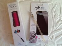📱2 item festival bundle River island selfie stick My bungee phone holder both new