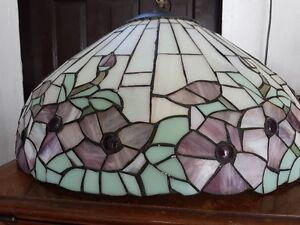 Tiffany-style stained glass light