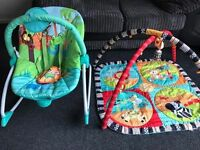 Baby bouncer and playmat