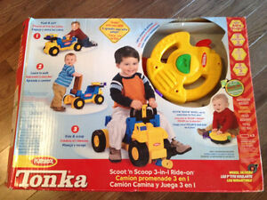 Tonka Scoot n Scoop 3-in-1 ride on. NEW in Box!