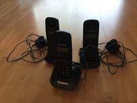 Panasonic triple dec telephones