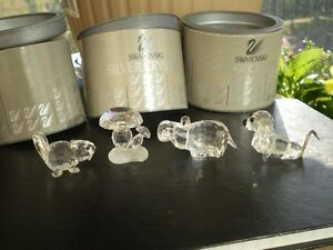 4 - Swarovski Silver Crystal Figurines Kitchener / Waterloo Kitchener Area image 1