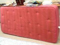 Red single mattress