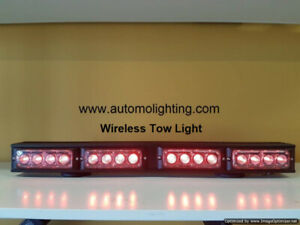 Wireless LED tow truck light, construction security strobe light