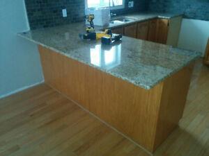 Solid Oak Kitchen with Granite countertop