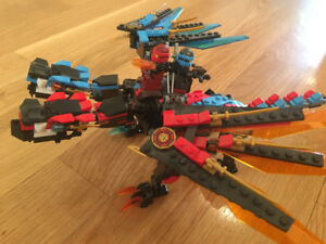 Used Lego Ninjago Fire & Water Dragon (part of 70627)