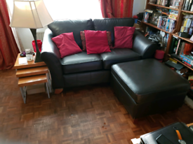 SOLD STCC!! MARKS and SPENCER LEATHER ABBEY SOFAS 3pc Dark Expresso Brown Was £35 SOLD STCC
