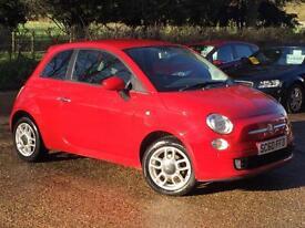 2011 Fiat 500 1.2 Sport 3 door (start/stop) Red only 47,522 Miles SUPERB!!!!!