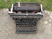 Vintage underwood typewriter- office ornament?