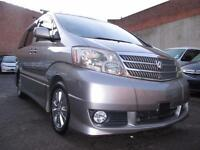 2004 TOYOTA ALPHARD Automatic 8 Seater MPV 4WD Both Electric Doors 3.L Sunroof