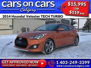 2014 Hyundai Veloster TECH TURBO w/Leather, Sunroof, Navi $119 B