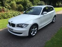 2009 59 PLATE BMW 116i SPORT 3 DR HATCH IN ALPINE WHITE