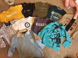 Designer boys clothes bundle t shirts and jumpers and shirts all age 4 or 3/4