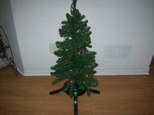 3.5  FT.  CHRISTMAS TREE  ---   LIGHTS INCLUDED !