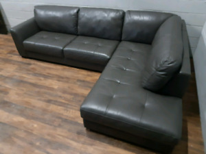 Urban Barn Boone premium leather sectional