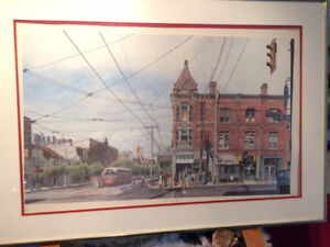 Les Tait Queen and Spadina print -  Artist Proof