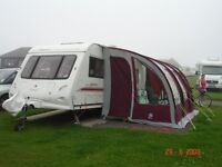 Suncamp porch awning 2012/2013 Burgundy/Grey selling due to sale of tourer caravan will fit 21foot