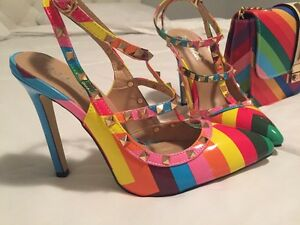 Rainbow shoes and purse / Valentino inspired Oakville / Halton Region Toronto (GTA) image 3
