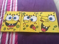 Sponge bob canvas set