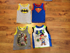 Boys size 4 sleeveless shirts