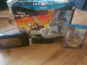 Wiiu with all hookups and 2 sealed gsmes