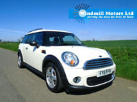 MINI CLUBMAN 1.6 TD ONE D 4DR WHITE - 5 SEAT - £20 TAX - ONE OWNER FROM NEW