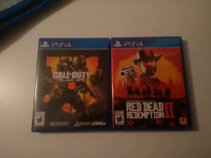 Jeux PS4 Red Dead 2 Black Ops 4