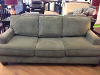 Grey Microfiber Sofa Set