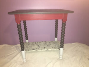 Small refinished table