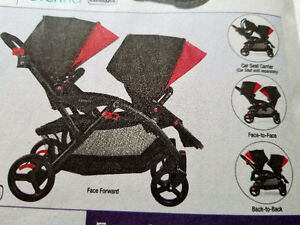 BRAND NEW DOUBLE STROLLER