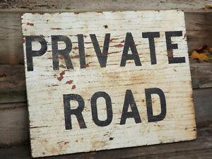 "NICE OLD ""PRIVATE ROAD"" SIGN FOR DECORATION - GREAT PATINA Peterborough Peterborough Area image 2"