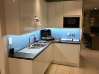Ex Display in - line gloss white kitchen