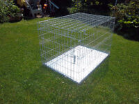 Extra Large Wire dog crate ~silver