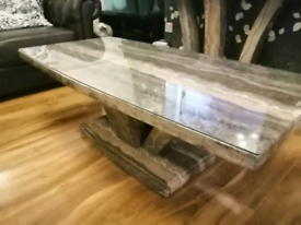 Price drop Coffee & console table marble