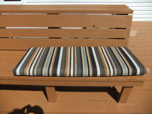 Outdoor bench cushions, $10 each