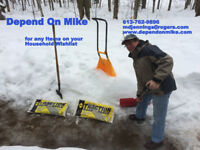 Booking Now For Minor Winter Services—Shoveling Walkways, Sandin