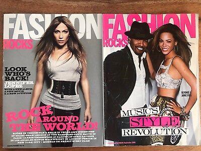 2 Issues Of Fashion Rocks Magazines Supp. To Vogue & W Beyoncé & Jamie Foxx, JLo
