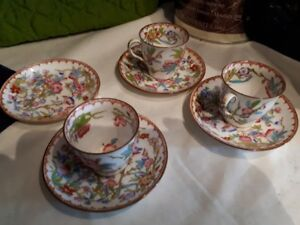 Minton - 3 mini cups and 4 min plates