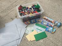 Lego (huge box, 7 large base plates, trees, figures, sets, thousands of pieces)