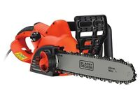 Black and Decker CS2040 Chainsaw CORDED 40cm Bar 2000 Watt new and boxed