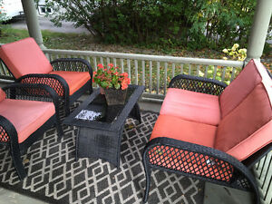 Outdoor Furniture Set - Table, Bench Two Chair
