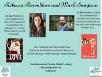 Double Book Launch with Mark Sampson and Rebecca Rosenblum