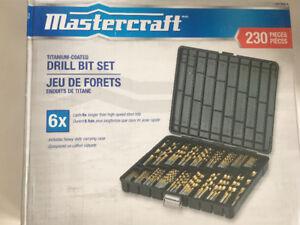 Master craft drill bit set 230 pieces brand new